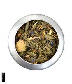 red roses flowers mango loose leaf green tea 8