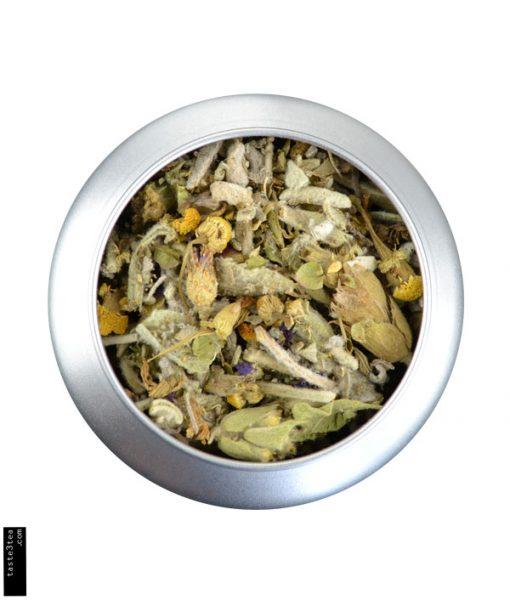 Τσάι του βουνού, χαμομήλι, δίκταμο, μολόχα & φασκόμηλο